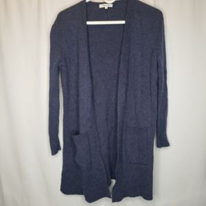 Madewell blue Kent open front cardigan xs